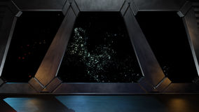 Space environment, ready for comp of your characters.3D renderin Royalty Free Stock Photography