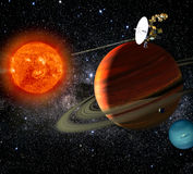 Space Exploration - Alien Solar System Royalty Free Stock Photo