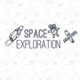 Space exploration concept background. Royalty Free Stock Image