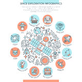 Space Exploration Infographics Stock Photo