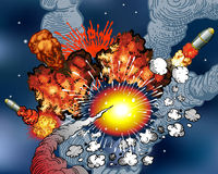 Space explosions stock illustration