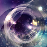 The space eye in blue Stock Photo