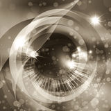 The space eye in sepia Royalty Free Stock Photography