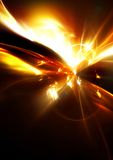 Space fantasy. Abstract background. Glowing dynamic template with lighting effect for creative design. Futuristic explosion for wallpaper desktop, poster, cover Stock Photo