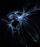 Space Fantasy, Black Hole Anomaly. Space fantasy black hole anomaly abstract, dark background, horizontal Stock Photos