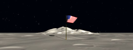 Space Flag 2. This is a view from  the moon Royalty Free Stock Photography