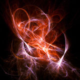 Space flame. Abstract bright flame of outer space on dark background Royalty Free Stock Photos