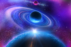 Space flare. A beautiful space scene Stock Image