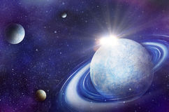 Space flare. A beautiful space scene Royalty Free Stock Photos