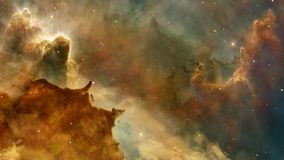 Space flight in nebula stock video footage