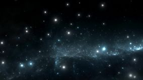 Space flight through nebula. Space travel