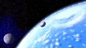 Space flight stock footage