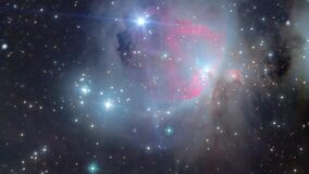 Space flight between stars to the orin nebula as a concept of future space travels in time and space