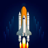 Space flight Royalty Free Stock Images