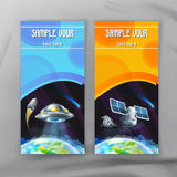 Space flyers, brochure template Stock Image