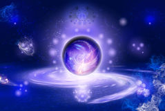 Space of galaxy Royalty Free Stock Images