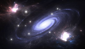 Space galaxy. Royalty Free Stock Photography