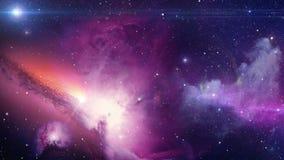 Space galaxy journey nebula universe zoom camera