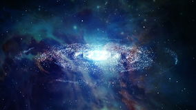 Space Galaxy Zoom In Motion Graphics stock footage