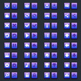Space game icons buttons icons, interface Stock Image