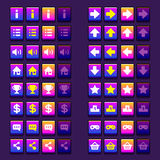 Space game icons buttons icons, interface, ui Stock Image