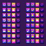 Space game icons buttons icons, interface, ui Royalty Free Stock Image