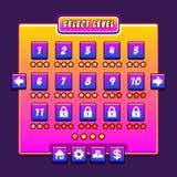 Space game menu level interface panels ui Stock Photo