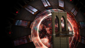 Space Gate into other world Royalty Free Stock Image