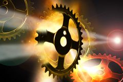 Space Gears Royalty Free Stock Photo