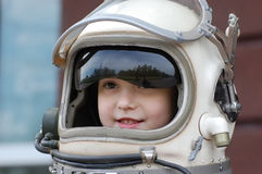 Space girl royalty free stock photo