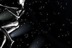 Space girl. Graphic woman Stock Images