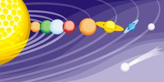 Space-golf Stock Photography