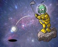Space golf Stock Photography