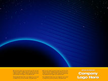 Space Graphic design Template. Space Hi Tech - Abstract Design artwork Royalty Free Stock Photo