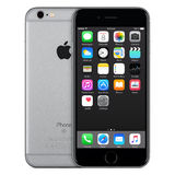 Space Gray Apple iPhone 6s front view with iOS 9 on the screen stock image