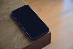 Space Gray Iphone 6 Royalty Free Stock Images