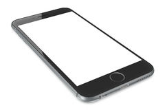 Space Gray smartphone with blank screen Royalty Free Stock Photography