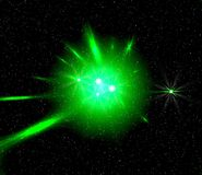 Space green light Royalty Free Stock Photo