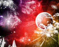 Space grunge party background Royalty Free Stock Images