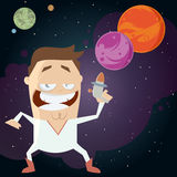 Space hero with galaxy background Royalty Free Stock Images