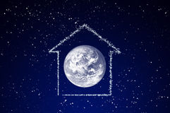 The space house Royalty Free Stock Photo