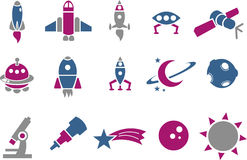 Space icon set Royalty Free Stock Photo
