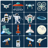 Space  Icon Set. Space  Icon. Vector icon in flat style Royalty Free Stock Image