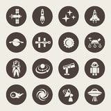 Space icon set Royalty Free Stock Image