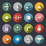 Space icon set Royalty Free Stock Images