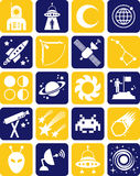 Space icons Royalty Free Stock Photography