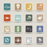 Space icons Stock Images