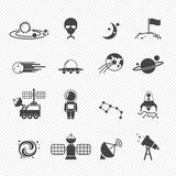 Space icons Stock Image