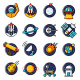 Space icons Royalty Free Stock Photo