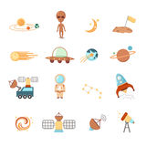 Space icons Stock Photo